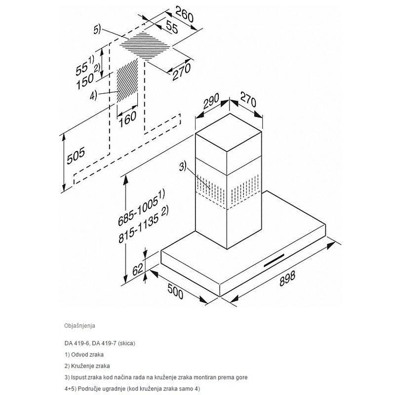 miele pur 98 w zidna napa bijela tehnika web shop ekuhinja. Black Bedroom Furniture Sets. Home Design Ideas