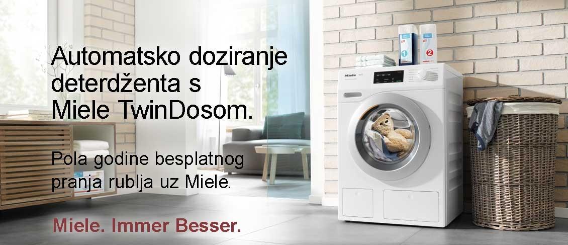 Automatsko doziranje deterdženta s Miele TwinDosom. Pola godine besplatnog pranja rublja uz Miele.