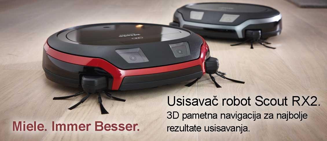Usisavač robot Scout RX2. 3D pametna navigacija za najbolje rezultate usisavanja.