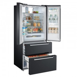 Midea HQ-692WEN - Premium + Black Glass kombinirani hladnjak