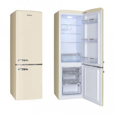 Hladnjak Amica FK2965.3GAA, A++, kombinirani, retro, bež