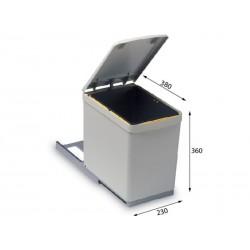 Alveus ALBIO 10 ugradbena kanta za otpad 16 litara