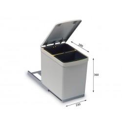 Alveus ALBIO 10 ugradbena kanta za otpad 2 x 7,5 l