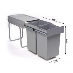 Alveus ALBIO 20 ugradbena kanta za otpad 2x14l