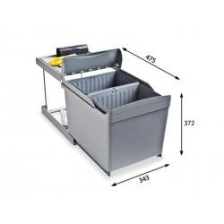 Alveus ALBIO 30 ugradbena kanta za otpad 2x16l