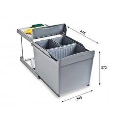 Alveus ALBIO 30 ugradbena kanta za otpad 1 X 16 L + 2 X 7,5 L
