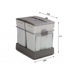 Albio ALBIO 40 ugradbena kanta za otpad 2x30l
