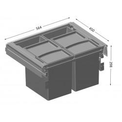 Alveus ALBIO 50  SET ugradbena kanta za otpad